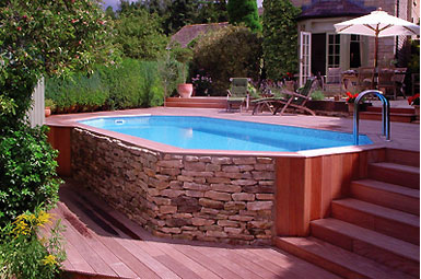 Above Ground Pool Design Backyard Pool Design